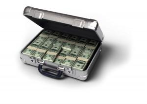 Чемодан с долларами